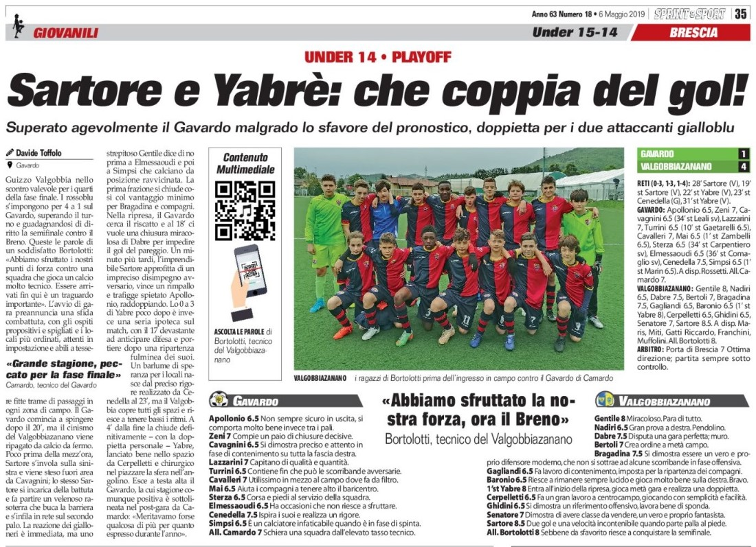 Under 14 – Playoff | Sartore E Yabrè: Che Coppia Da Gol!