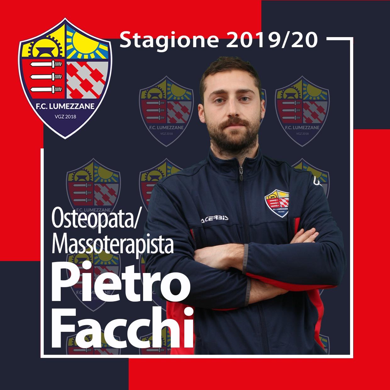 Confermato L'osteopata/massoterapista Pietro Facchi