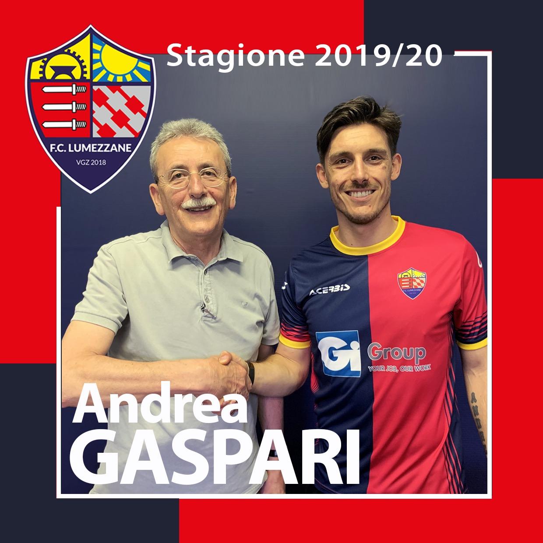 New Entry Per La Nuova Stagione: Andrea Gaspari