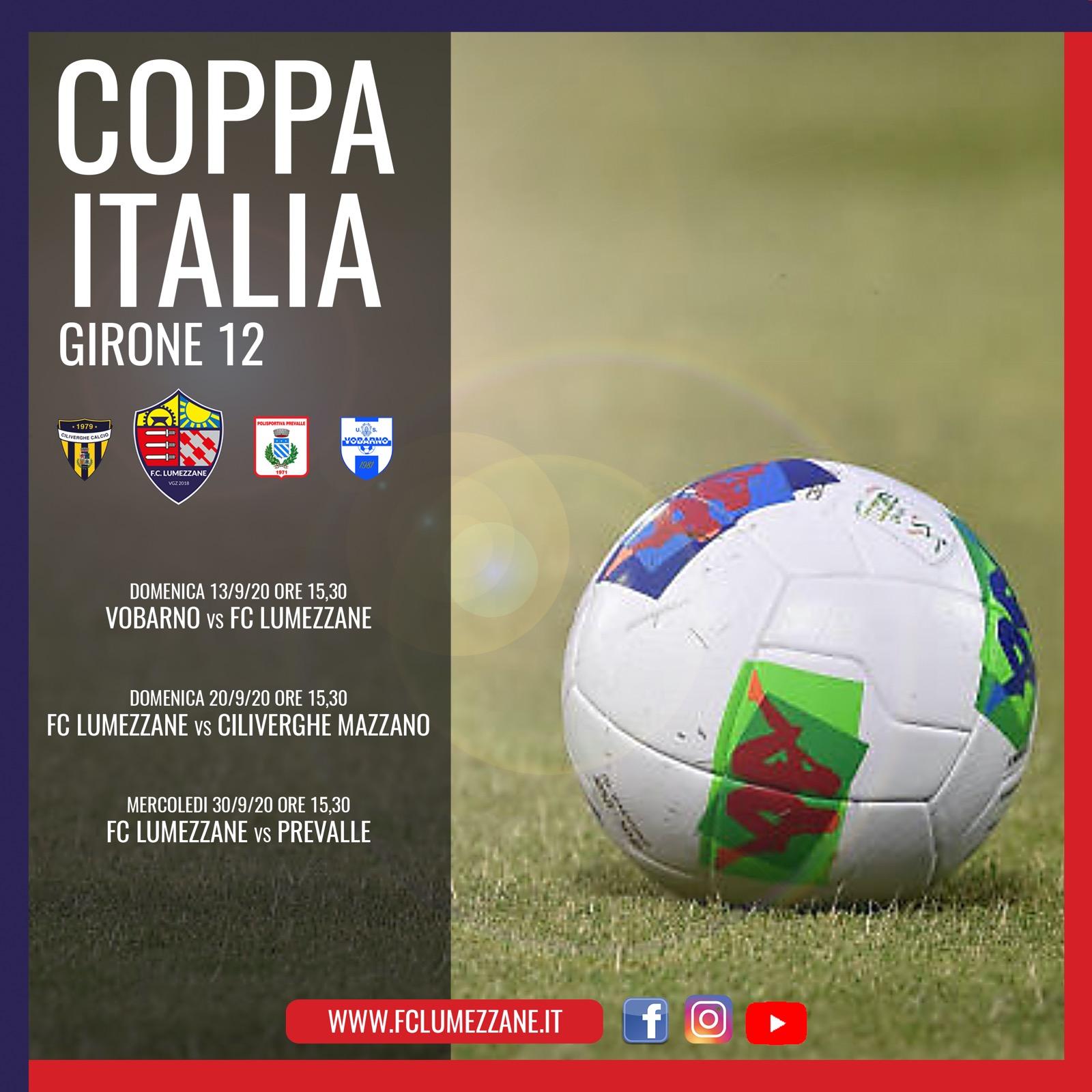 Coppa Italia – Lumezzane Sorteggiato Con Ciliverghe, Prevalle E Vobarno