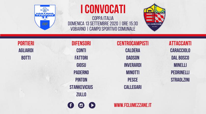 Coppa Italia: I Convocati E Le Dichiarazioni Del Pre-partita