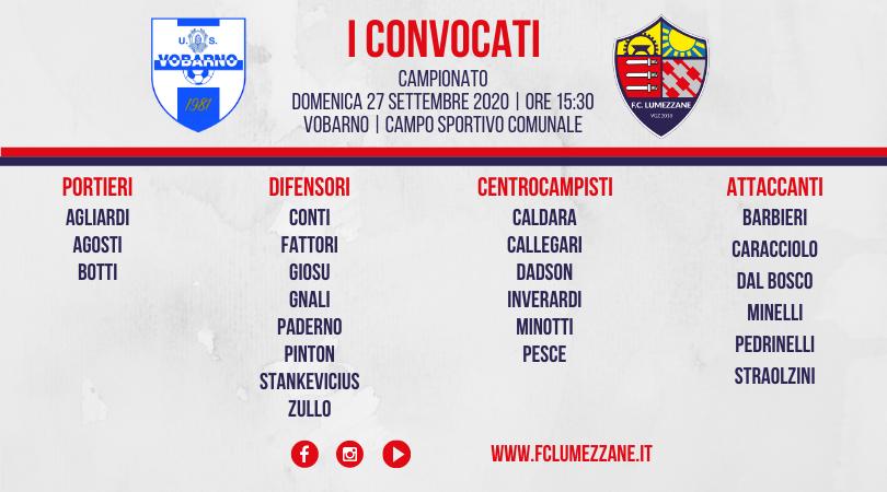 Campionato: I Convocati E Le Dichiarazioni Del Pre-partita Di Vobarno-Lumezzane