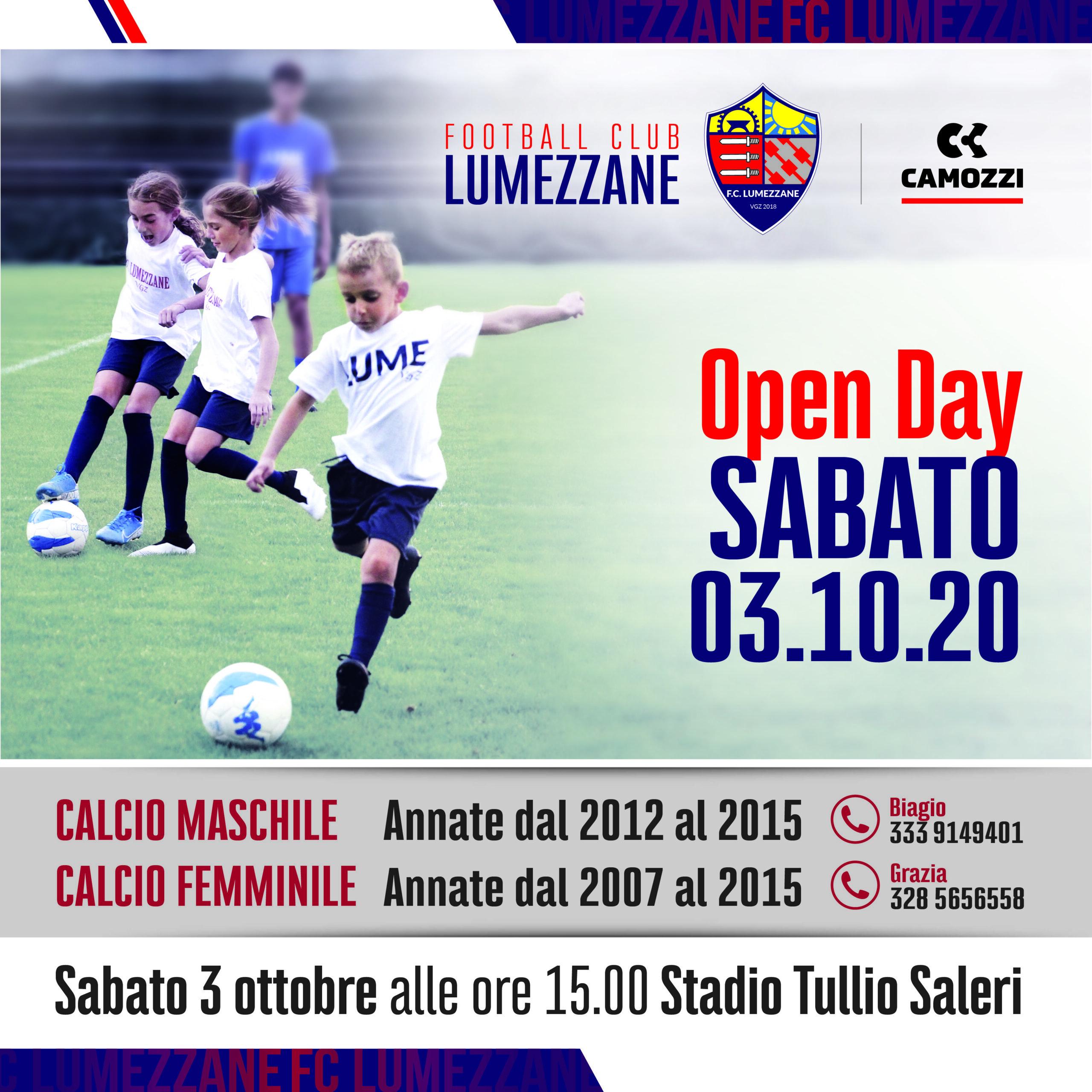 Open Day Rossoblù. Sabato 3 Ottobre Vi Aspettiamo Allo Stadio Saleri Di Lumezzane