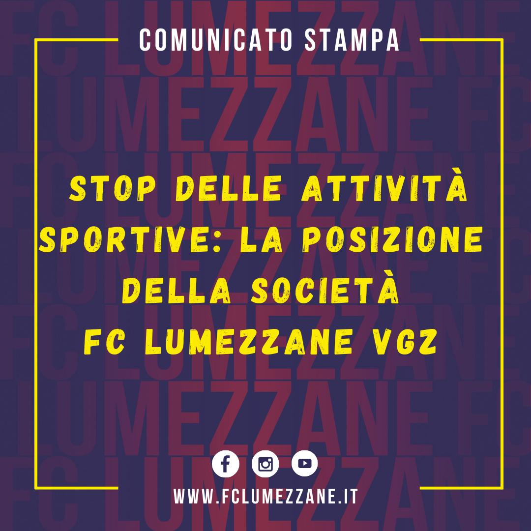 Stop Attività Sportive: La Posizione Della Società FC Lumezzane Vgz