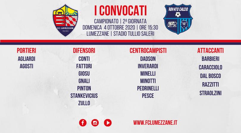 Campionato: I Convocati E Le Dichiarazioni Del Pre-partita Di Lumezzane-Rovato