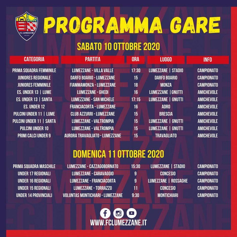 Le Partite Del Fine Settimana (10-11 Ottobre)