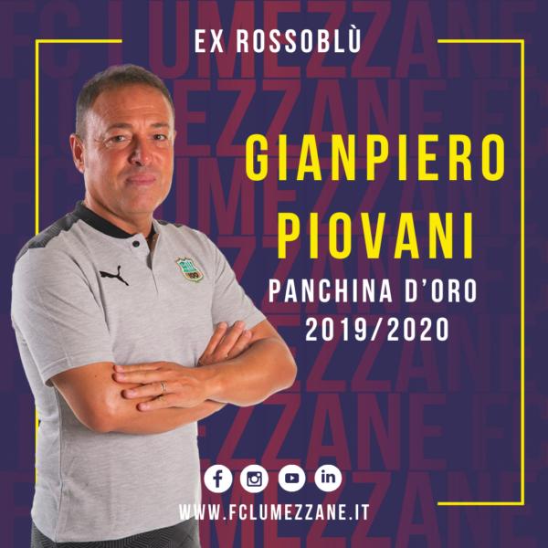 Panchina D'oro: Complimenti Al Mister Gianpiero Piovani