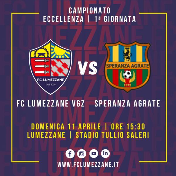 1 ª Giornata Di Campionato: Il Lumezzane Ospita Lo Speranza Agrate