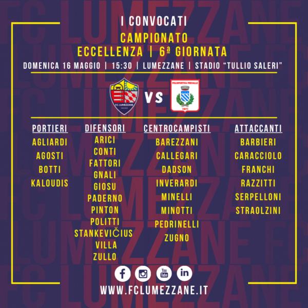 Campionato: I Convocati E Le Dichiarazioni Del Pre-partita Di Lumezzane-Prevalle