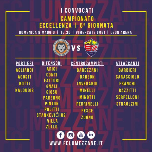 Campionato: I Convocati E Le Dichiarazioni Del Pre-partita Di Leon – Lumezzane