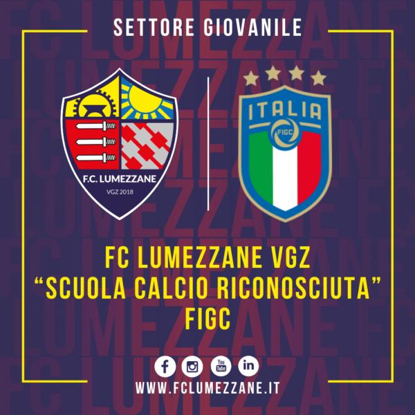 """Il Lumezzane è """"Scuola Calcio Riconosciuta"""" FIGC"""