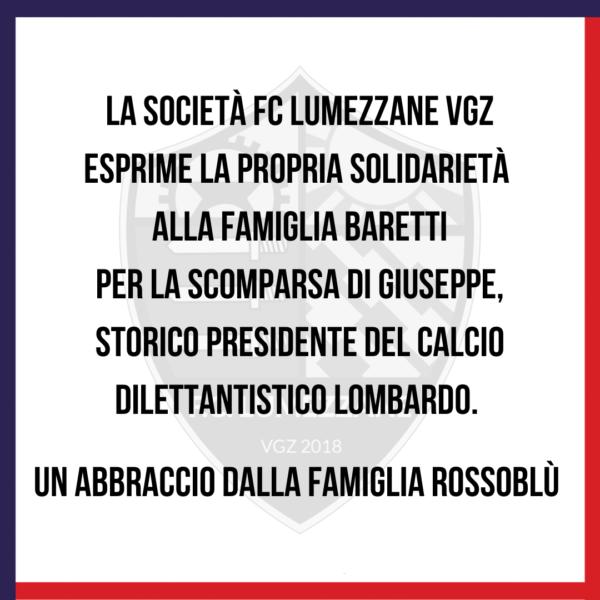 Condoglianze Alla Famiglia Baretti
