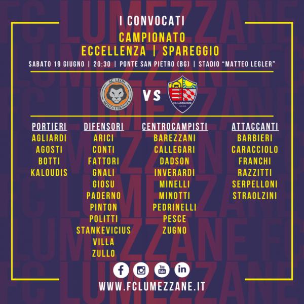 Spareggio: I Convocati E Le Dichiarazioni Del Pre-partita Di Leon-Lumezzane