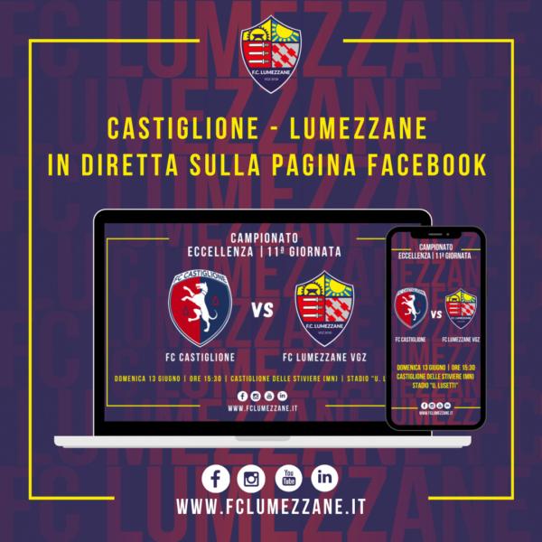 Castiglione – FC LUMEZZANE VGZ: LA DIRETTA