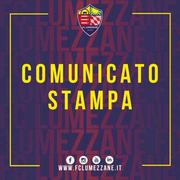 Comunicato Stampa Ufficiale FC Lumezzane VGZ