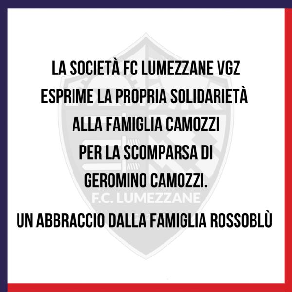 Condoglianze Alla Famiglia Camozzi