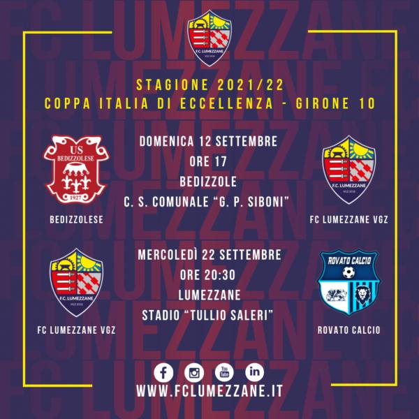 Coppa Italia – Lumezzane Sorteggiato Con Bedizzolese E Rovato